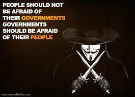 V For Vendetta Quotes Beauteous People Should Not Be Afraid Of Their Governments Image Quotes