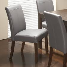 redoubtable genuine leather dining chairs chair with espresso wooden legs in brown grey and kitchen youll