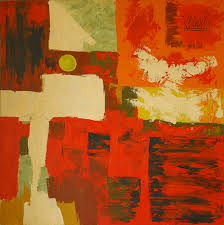 abstract painting that made frank even later for work only 15