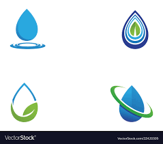Water Drops Template Water Drop Logo Template Design Royalty Free Vector Image