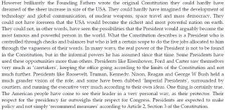 essay questions the growing power of the president political essay questions the growing power of the president
