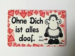 Sheepworld Ohne Dich Ist Alles Doof Decke Schaf Schwarz Ovp Rar