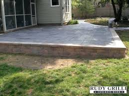 how to build a raised concrete porch great patio ideas work stamped decorative how to build a raised concrete porch