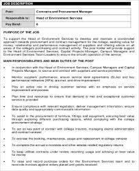 purchasing contract manager job description contract manager job description