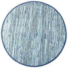 blue jean rugs for denim cotton striped round area rug 8 x free jeans