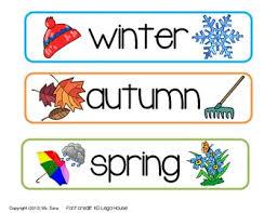 Season Chart Seasons Chart For Calendar