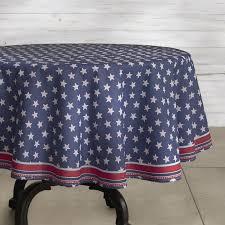 picnic star oilcloth outdoor round tablecloth