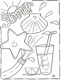 summer activities coloring pages