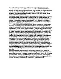 passage based essay of the last page of scene in the play the tennessee williams acircmiddot the glass menagerie page 1 zoom in