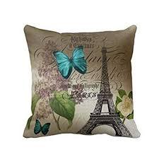 Hatop Blue Butterflies Paris Eiffel Tower Print Throw ... - Amazon.com