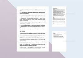 General And Operations Managers General And Operations Manager Job Description Template