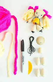 diy wooden bead dolls tutorial via small for big