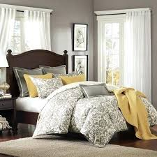 yellow and grey queen bedding love this majesty linen blend comforter set by home on yellow