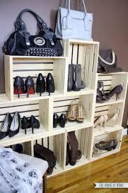 Shoe Organizer Ideas Best 25 Shoe Display Ideas On Pinterest Shoe Wall Diy Shoe