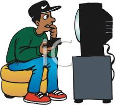 boy watching tv clipart. african american kid watching television - royalty free clipart picture boy tv p