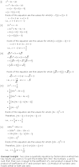 ncert solution for class 9 mathematics chapter 4 quadratic equations page excercise 4 2