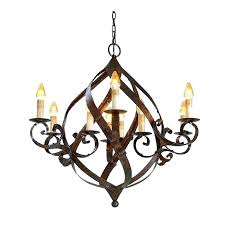 iron candle chandelier rod lighting wrought