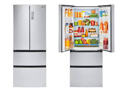 refrigerator 15 cu ft. haier hrf15n3ags 15 cubic foot 4-door french door refrigerator cu ft