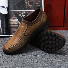 Fashion <b>Men's Leather</b> Casual Shoes <b>Breathable</b> Antiskid Loafers ...
