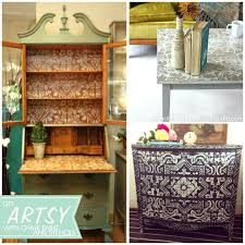 cool painted furniture cool painted and stenciled furniture projects with chalk via paint and pattern painted