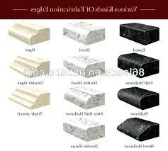 countertop edging options edges options flat edge eased edge quartz stone bathroom ideas for you granite edging edges options