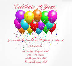 Party Invitation Images Free 14 50th Birthday Invitations Free Psd Ai Vector Eps Format