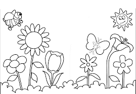 Small Picture Spring And Butterfly Flowers Coloring Page Flowers Images Of