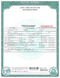 San Francisco Birth Certificate Template World Of Stage