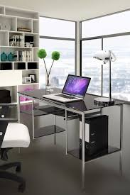 post glass home office desks. In The Next Few Weeks, We\u0027re Going To Start Adding Home Office Decor Our Website. Like This Post If You\u0027d Love Work Out Of Modern, Stylish Glass Desks A