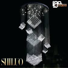 large modern chandeliers high quality crystal lamp hotel lobby chandelier stair led light in from lights