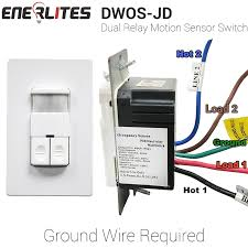 enerlites dwos jd dual relay occupancy sensor switch bi level enerlites dwos jd dual relay occupancy sensor switch bi level pir passive
