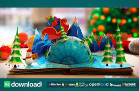 Popup Book Templates Christmas Pop Up Book After Effects Project Videohive Free