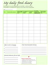Food Intake Chart Template My Daily Food Diary Diary Template Food Diary Food Journal