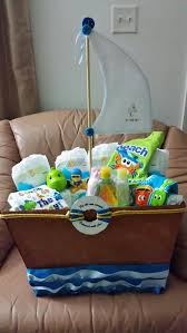 baby shower boat gift basket made by ladym sweets flowers and creations miami fl