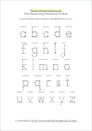 Free Handwriting Worksheets For Kindergarten Free Alphabet ...