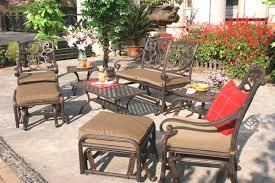patio furniture glider cast aluminum