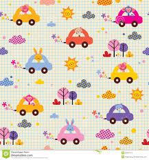cute s driving cars note book paper kids pattern