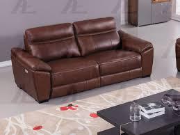 brown full italian leather recliner sofa