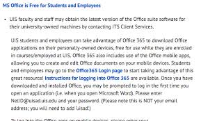 office 360 login office 365 liberal studies university of illinois springfield uis