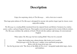 The Message Large Print The Bible In Contemporary Language