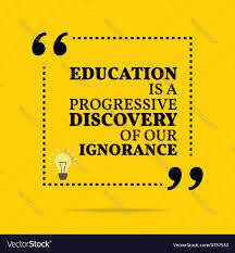 inspirational education quotes inspirational motivational quote education is a vector image