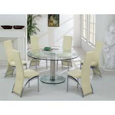 fancy design ideas round dining table sets for 6 all room glass plan 2