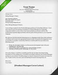 Cover Letter For Product Manager Position Sample Resume For Product Manager Project Manager Cover