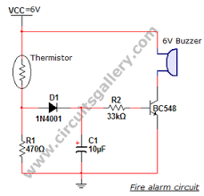 simple electronic projects(6) student zone fire alarm circuit working principle at Fire Alarm Circuit Diagram