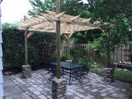 Images Of Pergola Astonishing Construction Design Oak Polished Finish  Wooden Posts Support Gussets Crossbeams Rafters Roof Battens Backyard Patio  Decoration
