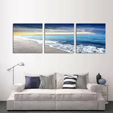 framed art free shipping 3 panel wall art beach painting home decoration canvas prints pictures for on 3 panel wall art beach with framed art free shipping 3 panel wall art beach painting home