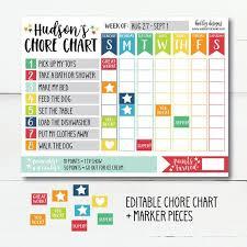 Daily Responsibilities Chart For Kids Reward Chart Kids