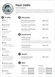 Free Modern Downloadable Resume Templates Free Resume Template For Word 2010 Download Resume Templates Word