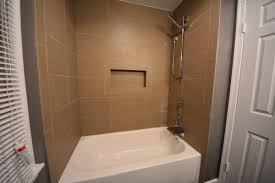 basement tiled bathtub surround bath enclosure kits