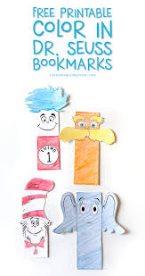 This free preschool printable includes 17 pages of dr. Color In Dr Seuss Bookmarks Free Printable